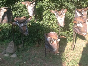 Scrap metal cow sculpture: check