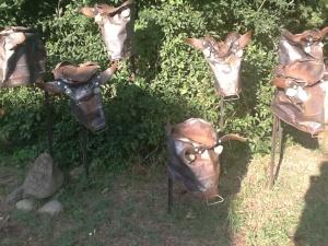 Scrap metal cow sculpture: check